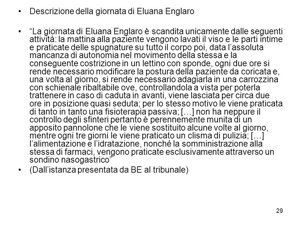 Descrizione della giornata di Eluana Englaro