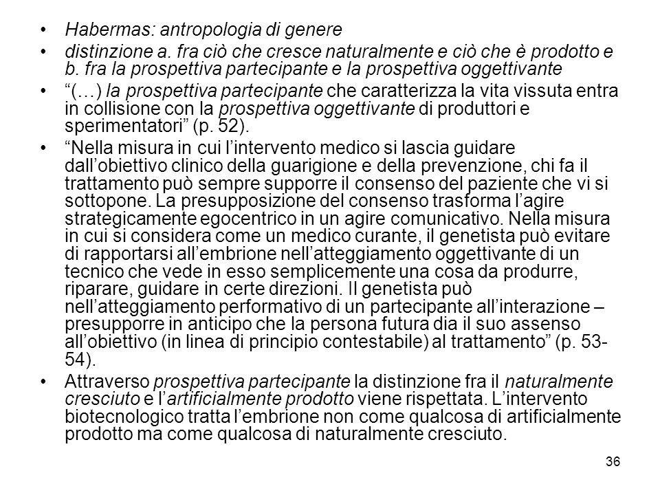 Habermas: antropologia di genere