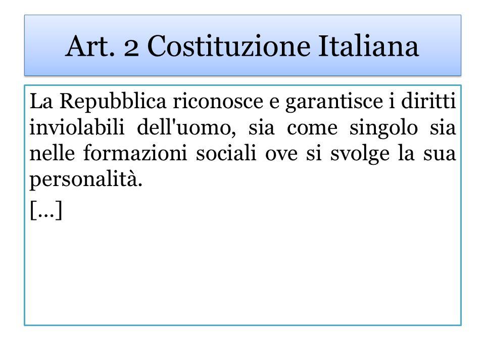 Art. 2 Costituzione Italiana