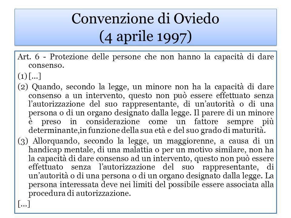 Convenzione di Oviedo (4 aprile 1997)