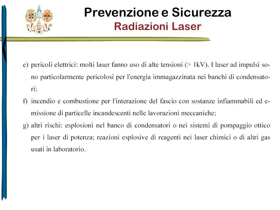 Prevenzione e Sicurezza Radiazioni Laser