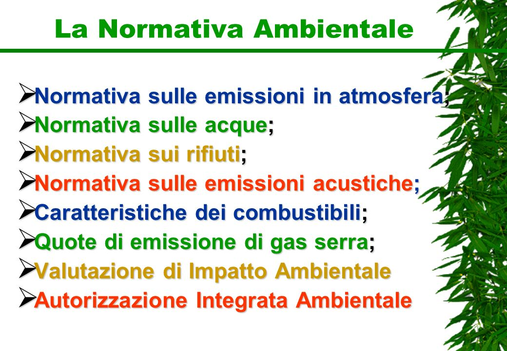 La Normativa Ambientale