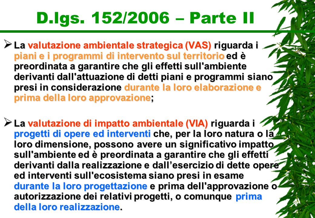 D.lgs. 152/2006 – Parte II