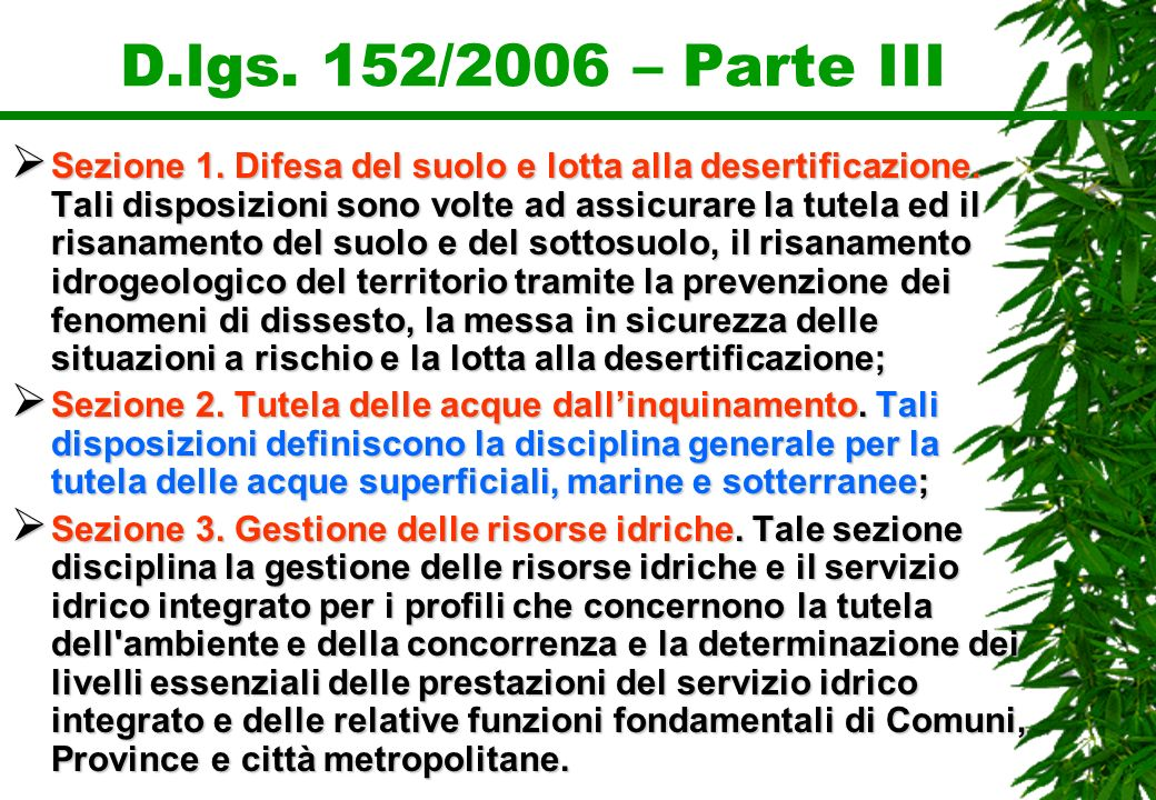 D.lgs. 152/2006 – Parte III