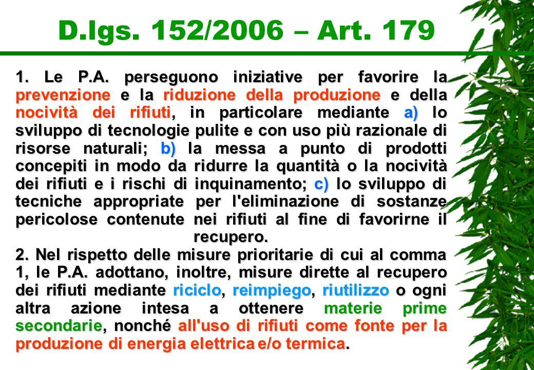 D.lgs. 152/2006 – Art. 179