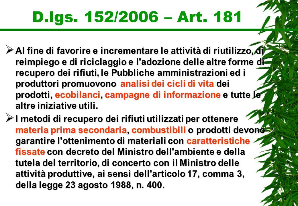 D.lgs. 152/2006 – Art. 181