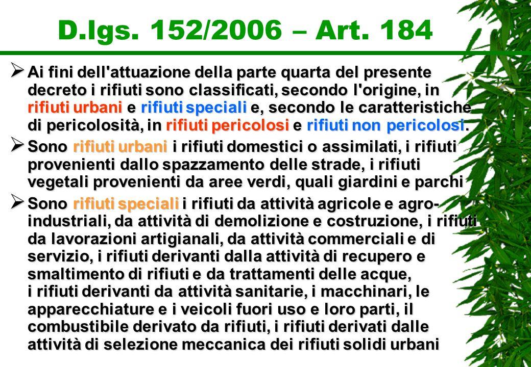 D.lgs. 152/2006 – Art. 184