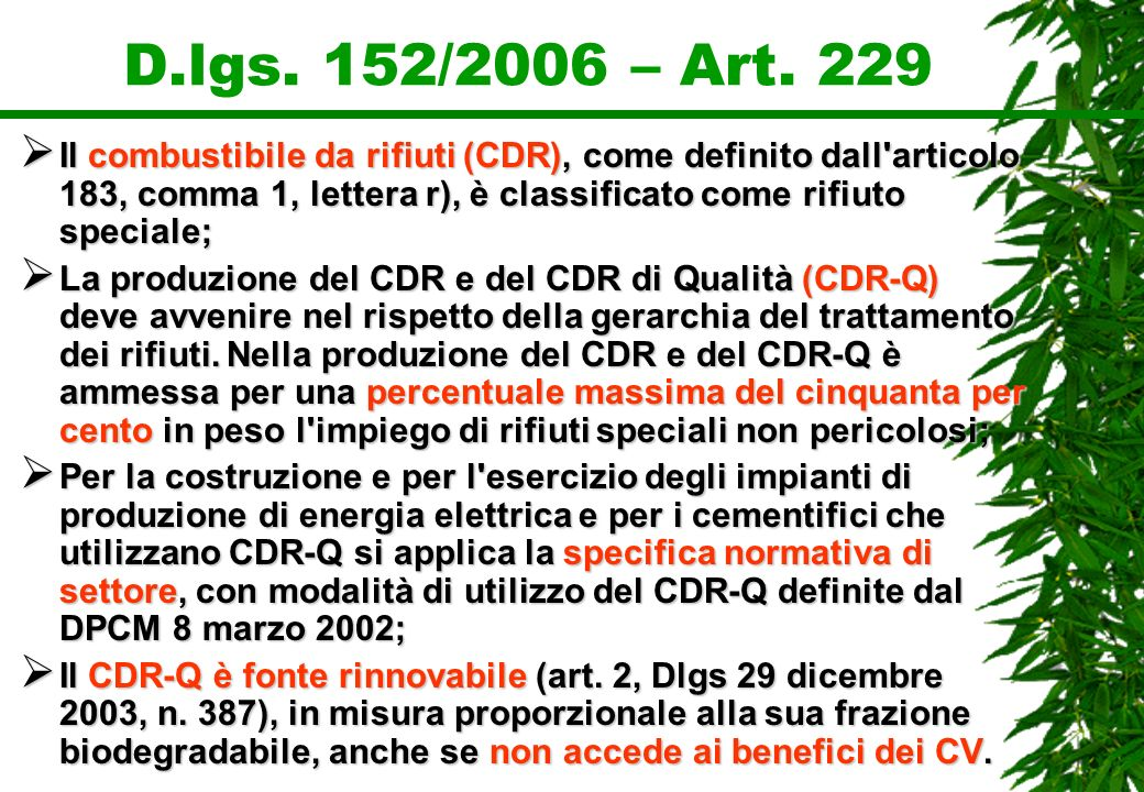 D.lgs. 152/2006 – Art. 229