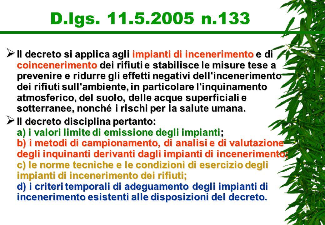 D.lgs. 11.5.2005 n.133