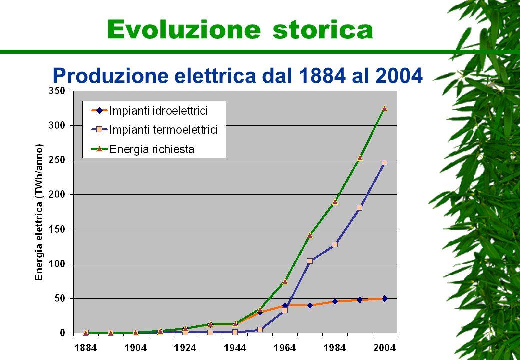 Produzione elettrica dal 1884 al 2004