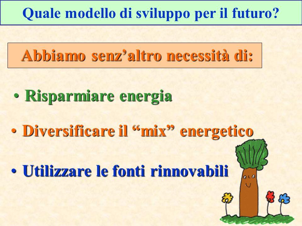 Quale modello di sviluppo per il futuro