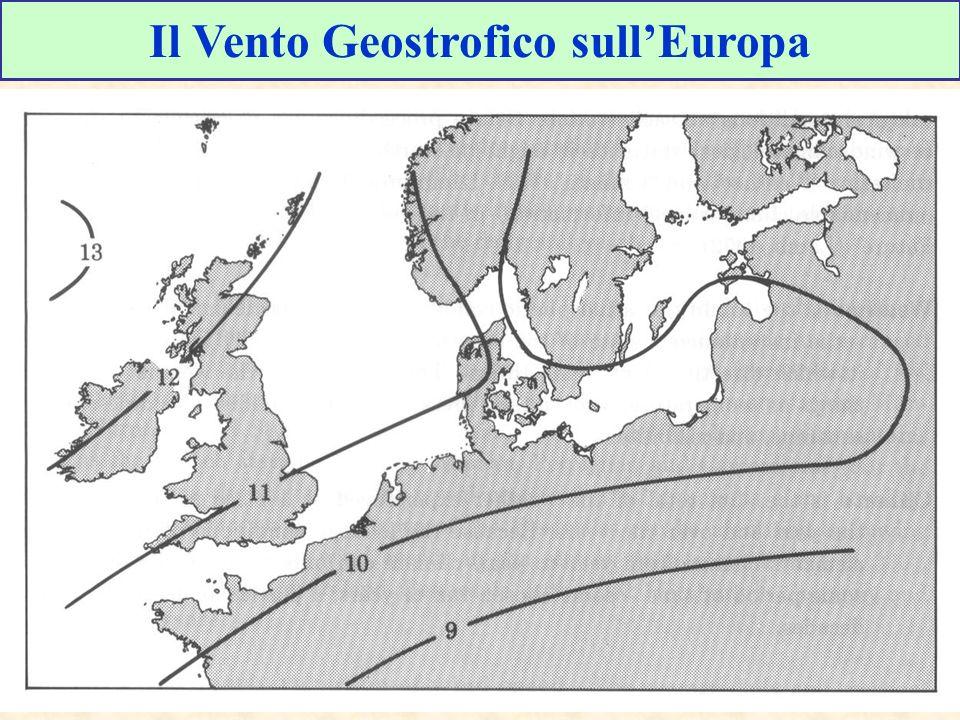 Il Vento Geostrofico sull'Europa