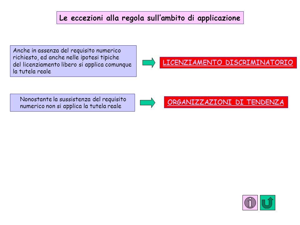 Le eccezioni alla regola sull'ambito di applicazione