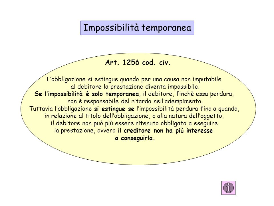 Impossibilità temporanea