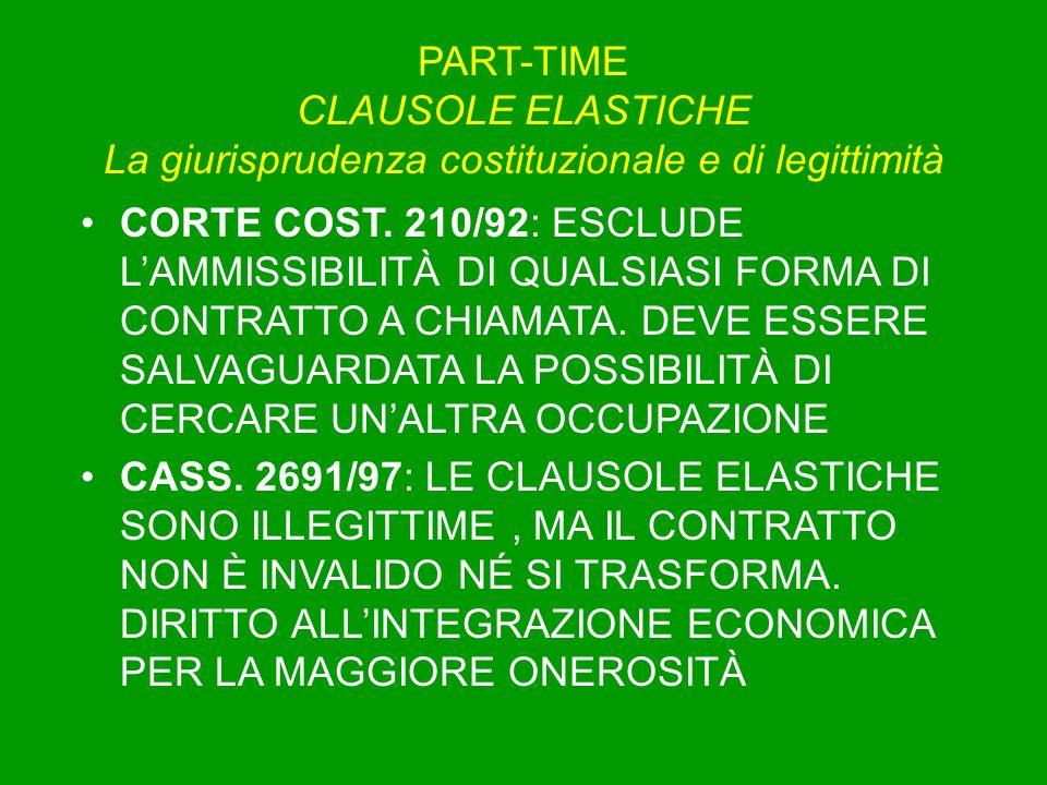 PART-TIME CLAUSOLE ELASTICHE