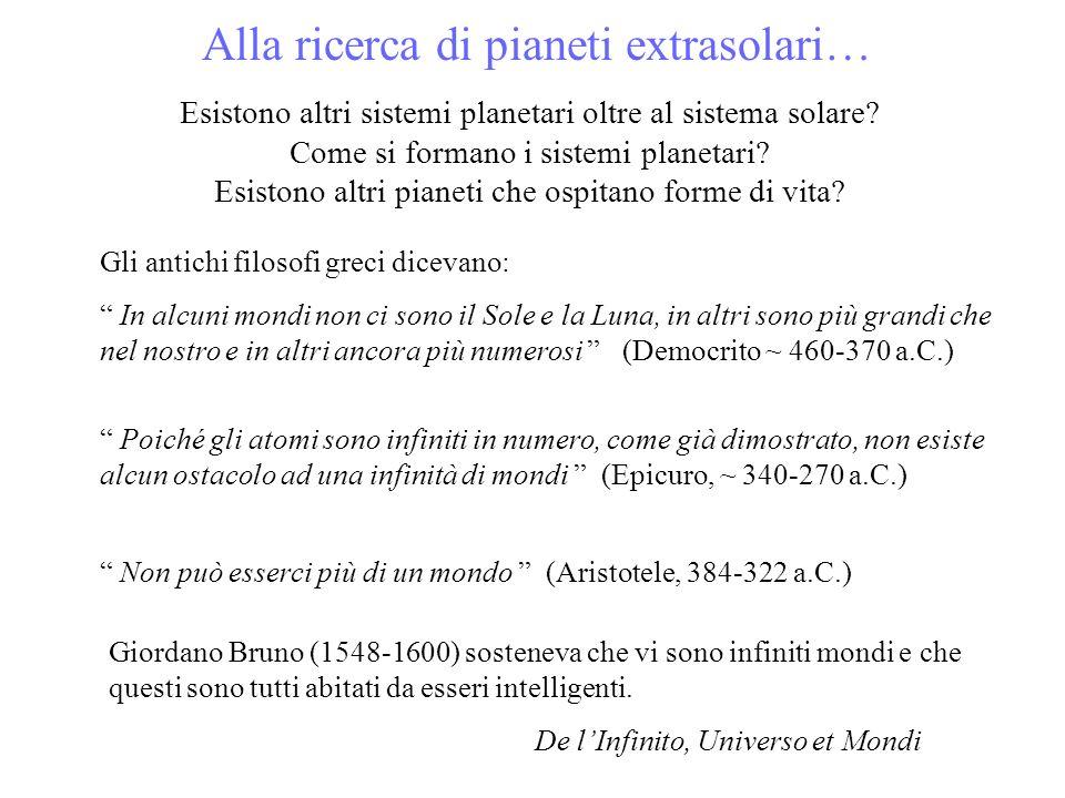 Alla ricerca di pianeti extrasolari…