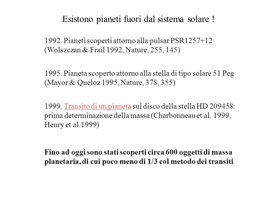 Esistono pianeti fuori dal sistema solare !