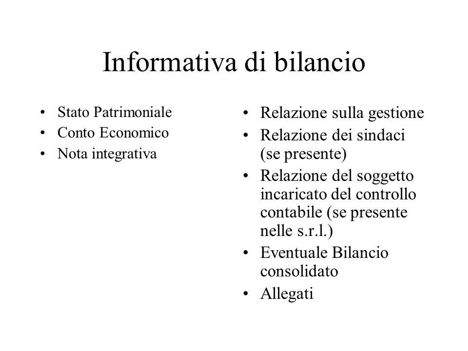 Informativa di bilancio