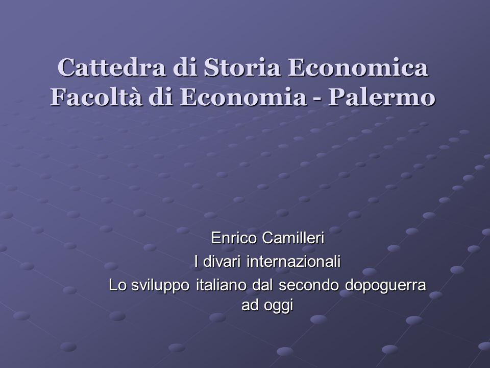 Cattedra di Storia Economica Facoltà di Economia - Palermo