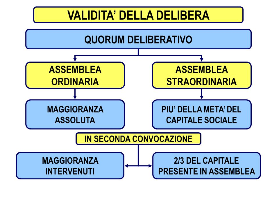 VALIDITA' DELLA DELIBERA