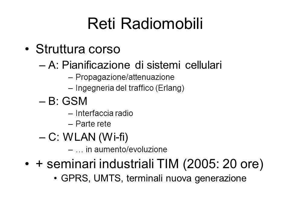Reti Radiomobili Struttura corso