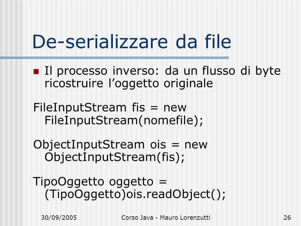De-serializzare da file