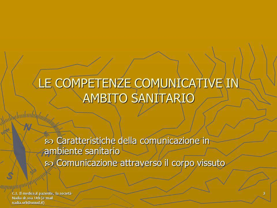 LE COMPETENZE COMUNICATIVE IN AMBITO SANITARIO