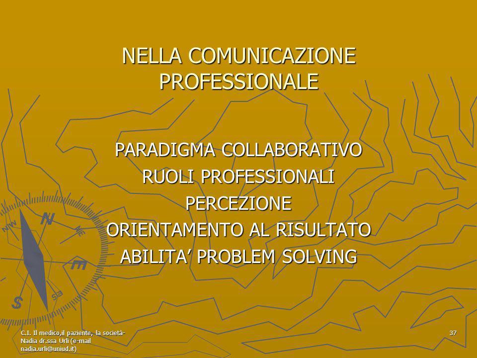 NELLA COMUNICAZIONE PROFESSIONALE