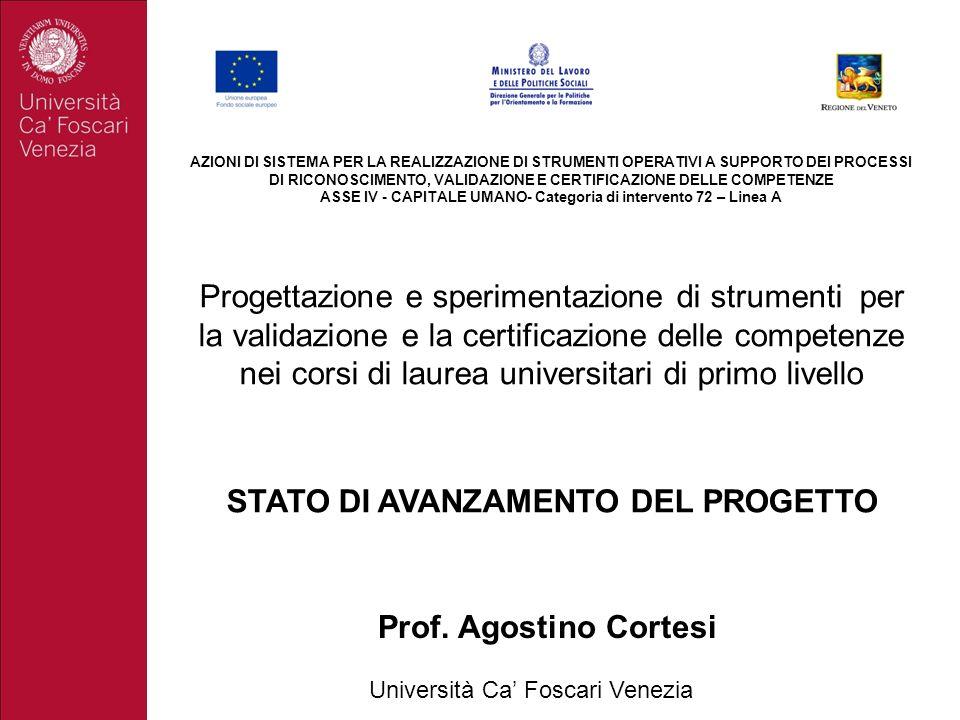 ASSE IV - CAPITALE UMANO- Categoria di intervento 72 – Linea A
