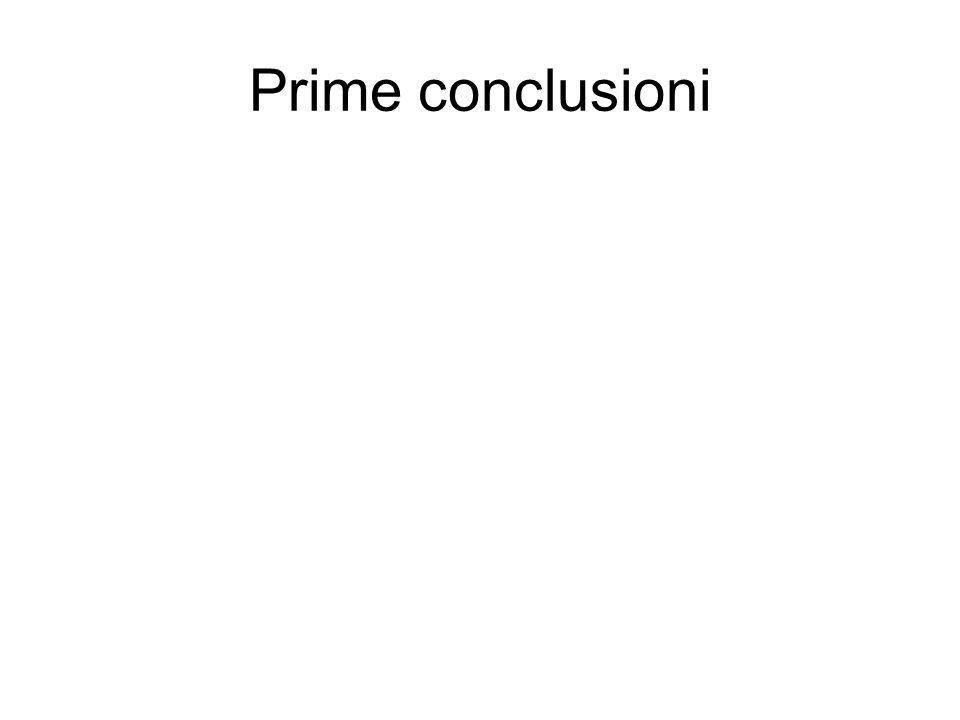 Prime conclusioni