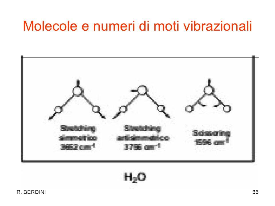 Molecole e numeri di moti vibrazionali