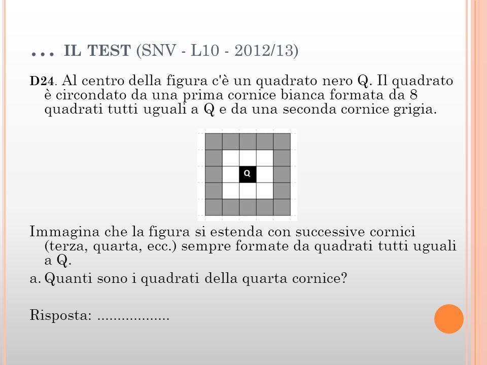 … il test (SNV - L10 - 2012/13)