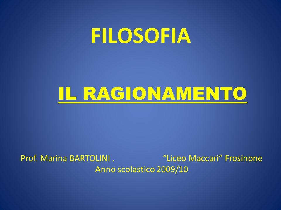 Prof. Marina BARTOLINI . Liceo Maccari Frosinone
