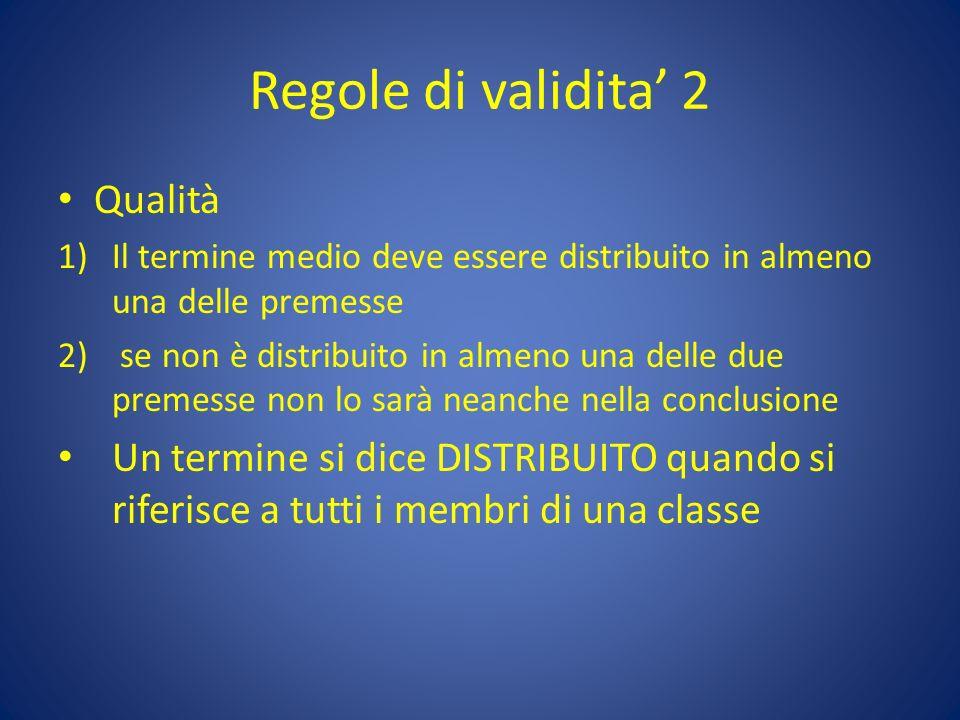 Regole di validita' 2 Qualità