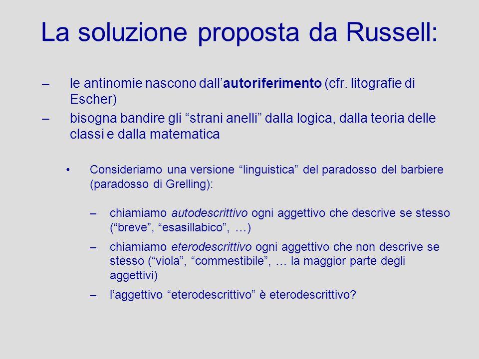 La soluzione proposta da Russell: