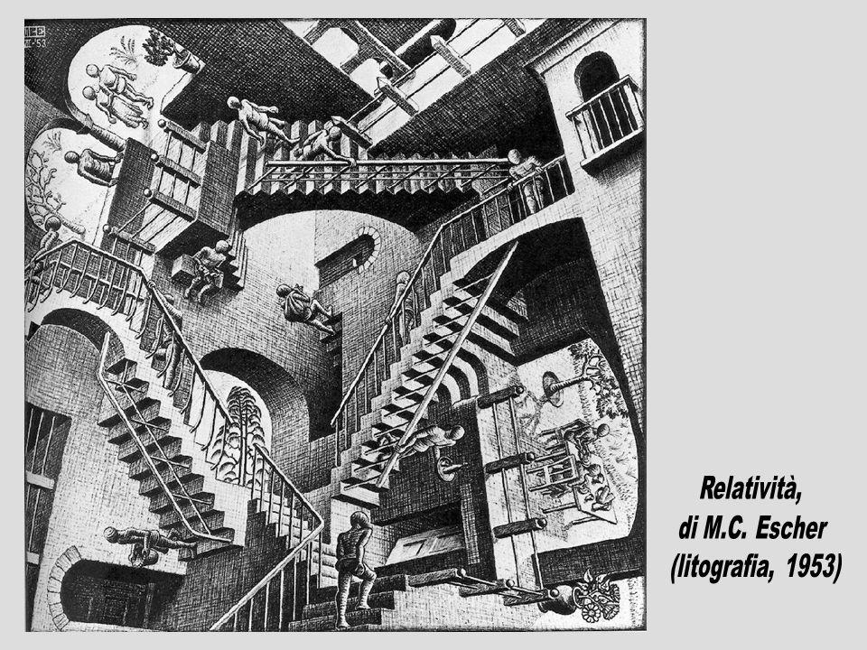 Relatività, di M.C. Escher (litografia, 1953)