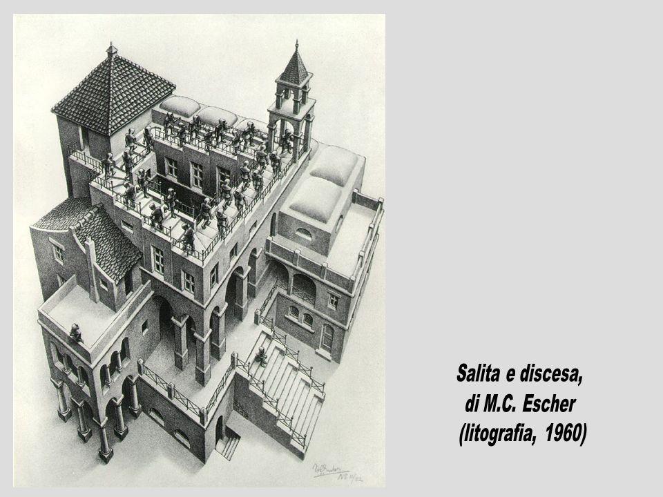 Salita e discesa, di M.C. Escher (litografia, 1960)