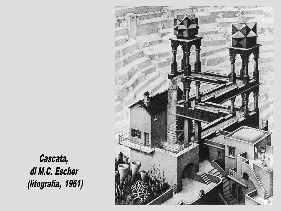 Cascata, di M.C. Escher (litografia, 1961)