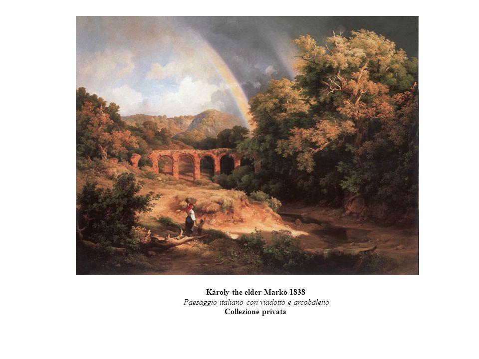 Paesaggio italiano con viadotto e arcobaleno