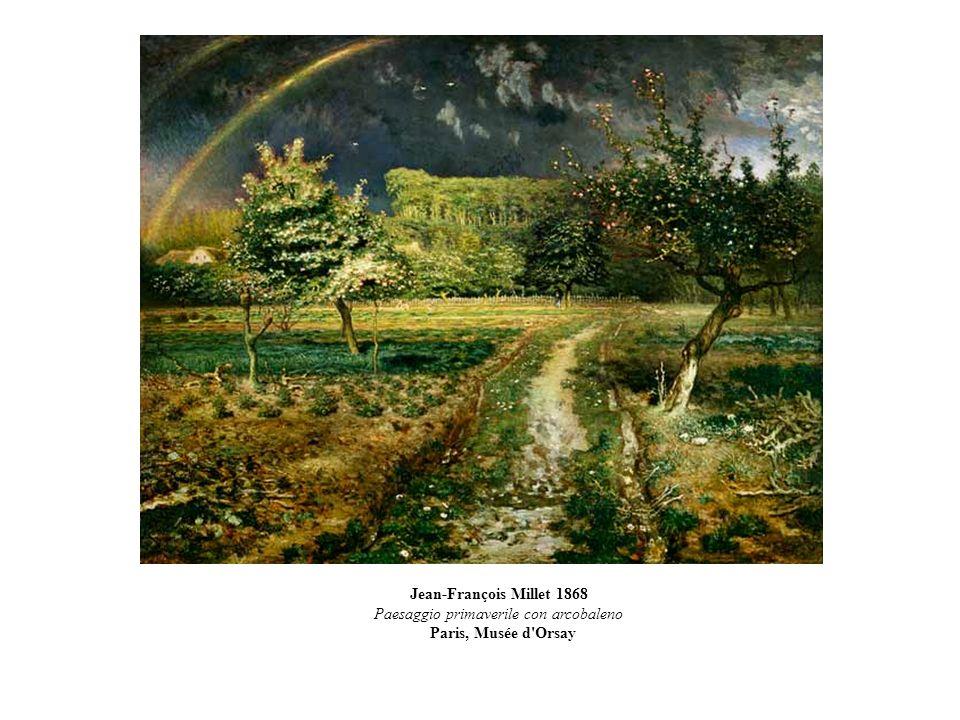 Paesaggio primaverile con arcobaleno