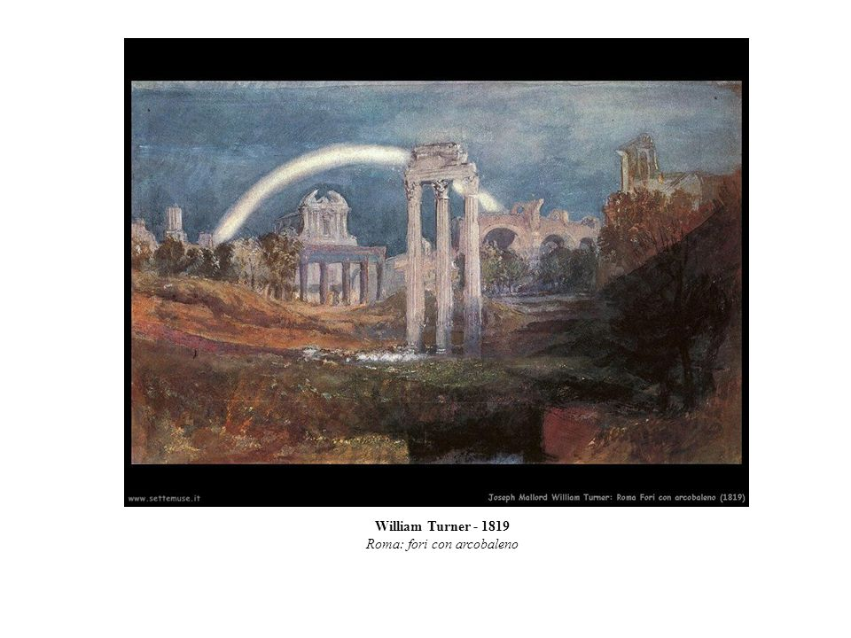 Roma: fori con arcobaleno