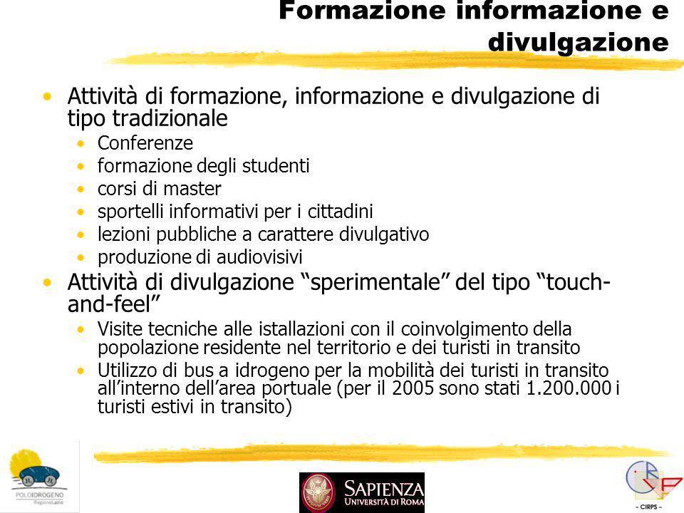 Formazione informazione e divulgazione