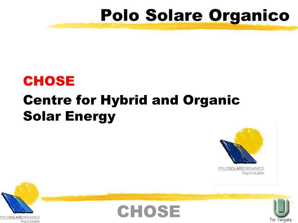 CHOSE Centre for Hybrid and Organic Solar Energy