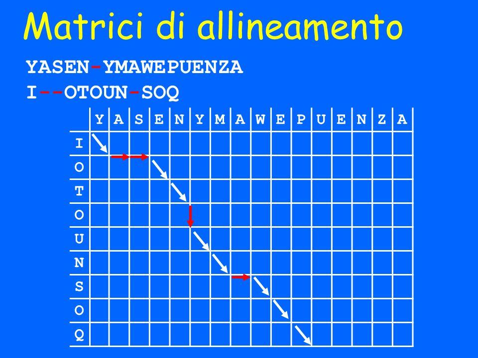 Matrici di allineamento
