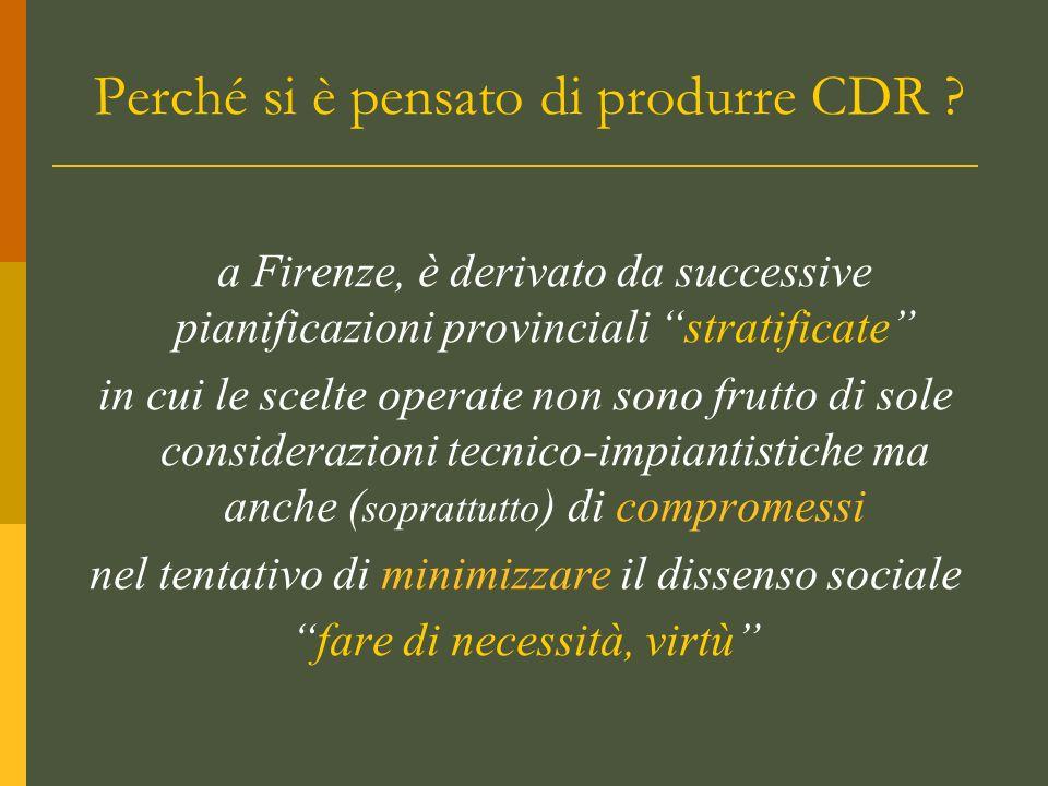 Perché si è pensato di produrre CDR