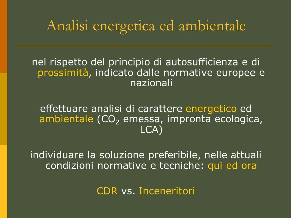 Analisi energetica ed ambientale