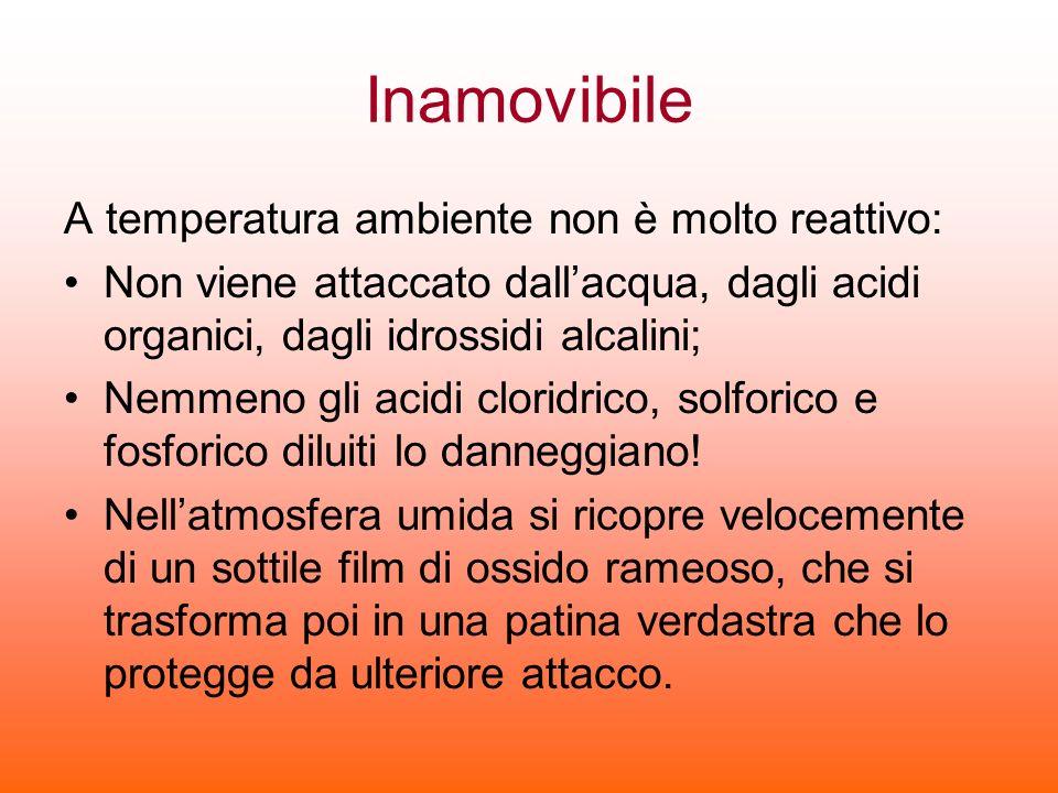 Inamovibile A temperatura ambiente non è molto reattivo: