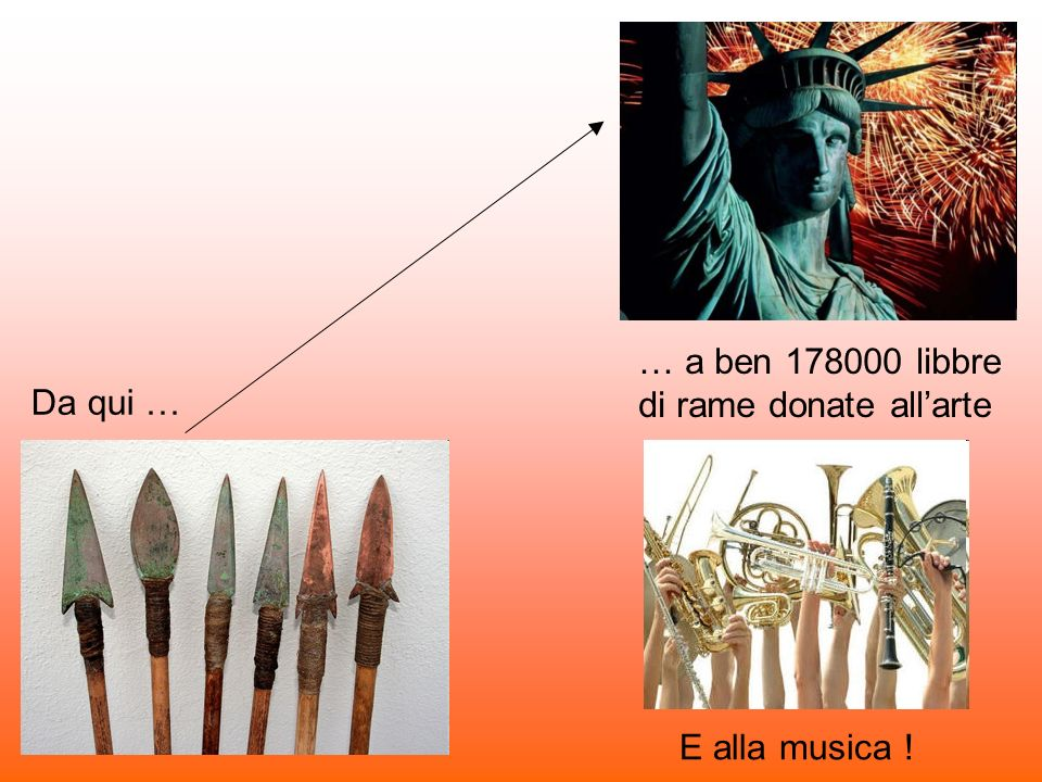 … a ben 178000 libbre di rame donate all'arte