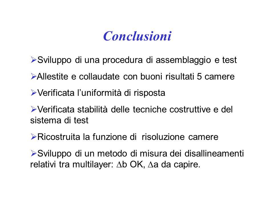 Conclusioni Sviluppo di una procedura di assemblaggio e test