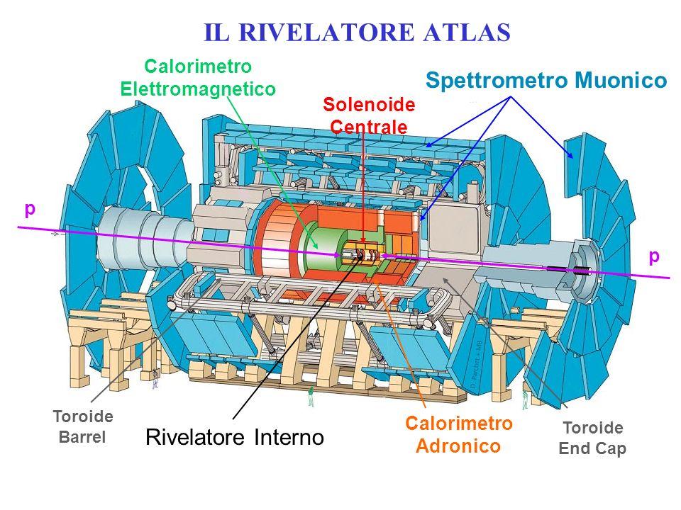 IL RIVELATORE ATLAS Spettrometro Muonico Rivelatore Interno